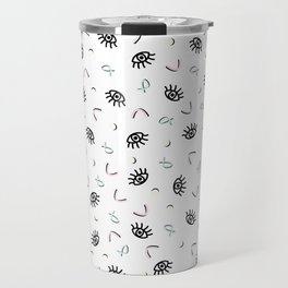 Eye Spy - Funky Memphis 80's Pattern Travel Mug