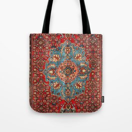Bidjar Antique Kurdish Northwest Persian Rug Print Tote Bag
