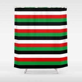 Kenya Jordan Iraq Kuwait flag stripes Shower Curtain
