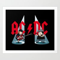 acdc Art Prints featuring ACDC by victimArte