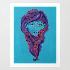 Tentacle Chick Art Print