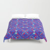 asia Duvet Covers featuring Asia 3 by Emma Stein