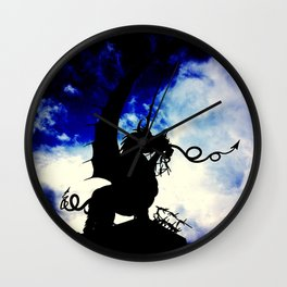Welsh Dragon- Memitz woods, Belgium Wall Clock