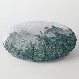 The Faded Fog Floor Pillow