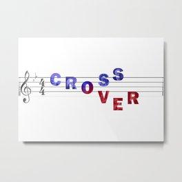 Crossover Metal Print