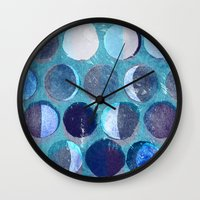 calendar Wall Clocks featuring lunar calendar by marella