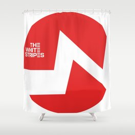 The White Stripes Shower Curtain