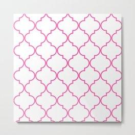 Quatrefoil - Bubblegum Metal Print
