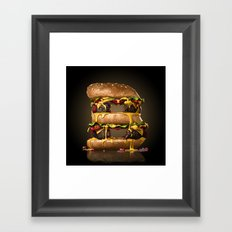 B for Burger Framed Art Print