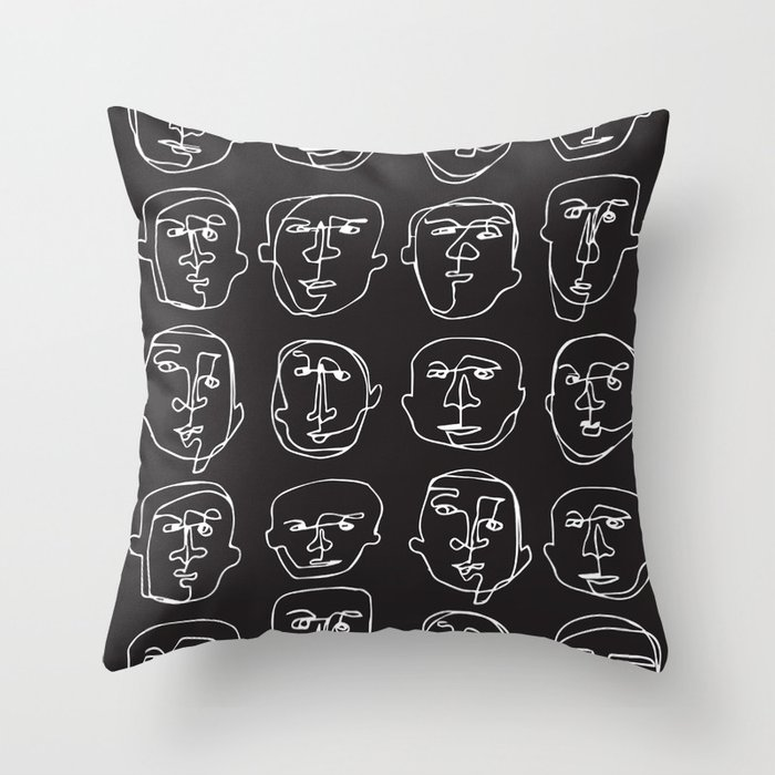 Facial Expression (Inverted) Throw Pillow