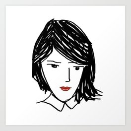 Wondering Woman Art Print
