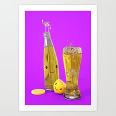 Happy Lemon Juice Art Print
