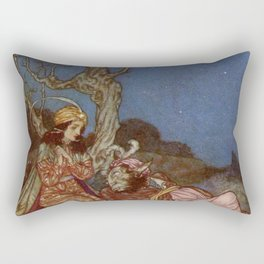 Yes I will Marry You Beauty and the Beast By Edmund Dulac Rectangular Pillow
