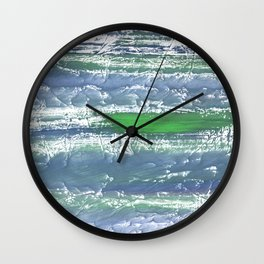 Green Blue clouded wash drawing design Wall Clock