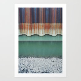 Rust level // turquoise water // rock Art Print