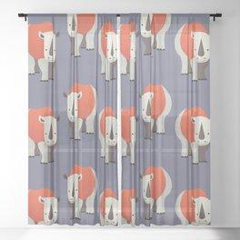 Whimsy Rhinoceros Sheer Curtain