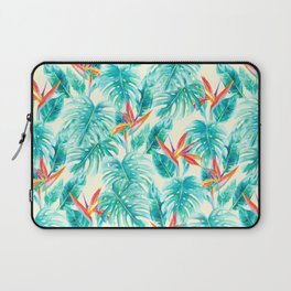 Tropical Paradise Pale Yellow Laptop Sleeve