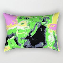 Pop Art Young Chimp Rectangular Pillow