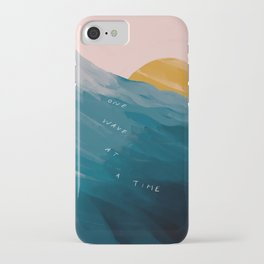 """""""One Wave At A Time"""" iPhone Case"""