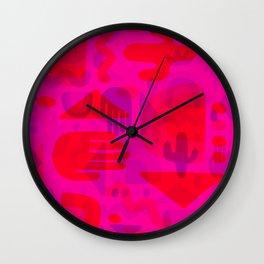 Neon Cutout Print Wall Clock