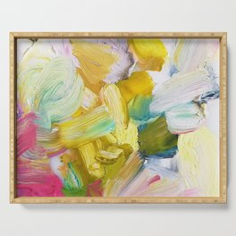 Lots of Feelings Abstract Painting Serving Tray