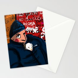 Kira and the boy in the Subway Stationery Cards