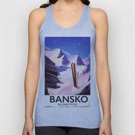 Bansko Bulgaria To Ski Unisex Tank Top