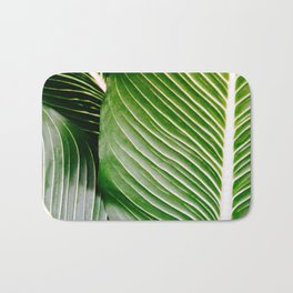 Big Leaves - Tropical Nature Photography Bath Mat