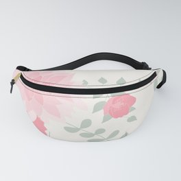 Dahlias and spring flowers in light pastel pink Fanny Pack