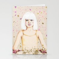 sia Stationery Cards featuring Crystal Heart, Glitter Mind by anna hammer