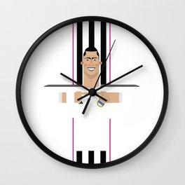 Cristiano Ronaldo Real Madrid Illustration Wall Clock