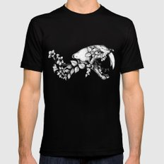 Prehistoric Bloom - The Cat Mens Fitted Tee LARGE Black