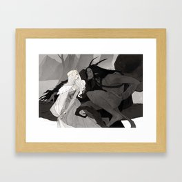 Krampus and Perchta II Framed Art Print