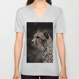 Abstract Animal - Cheetah Unisex V-Neck