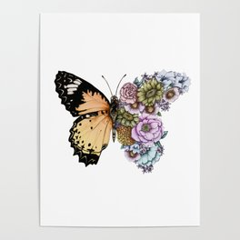 Butterfly in Bloom II Poster