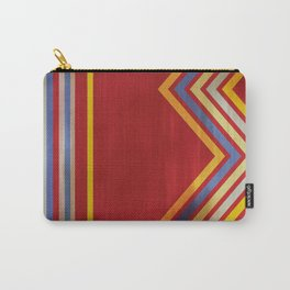 Stripes and Chevrons Ethic Pattern Carry-All Pouch