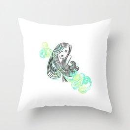 I dream of the sea Throw Pillow