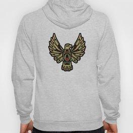 Tribal Black and Gold Eagle Digital Design Hoody
