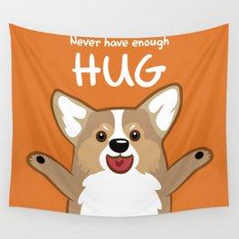 Hug Corgi Wall Tapestry