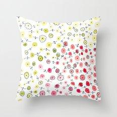 Tiny flowers Throw Pillow