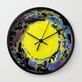Scrambled Eggs: But She has some Great Ideas (Yellow Dot ) Wall Clock