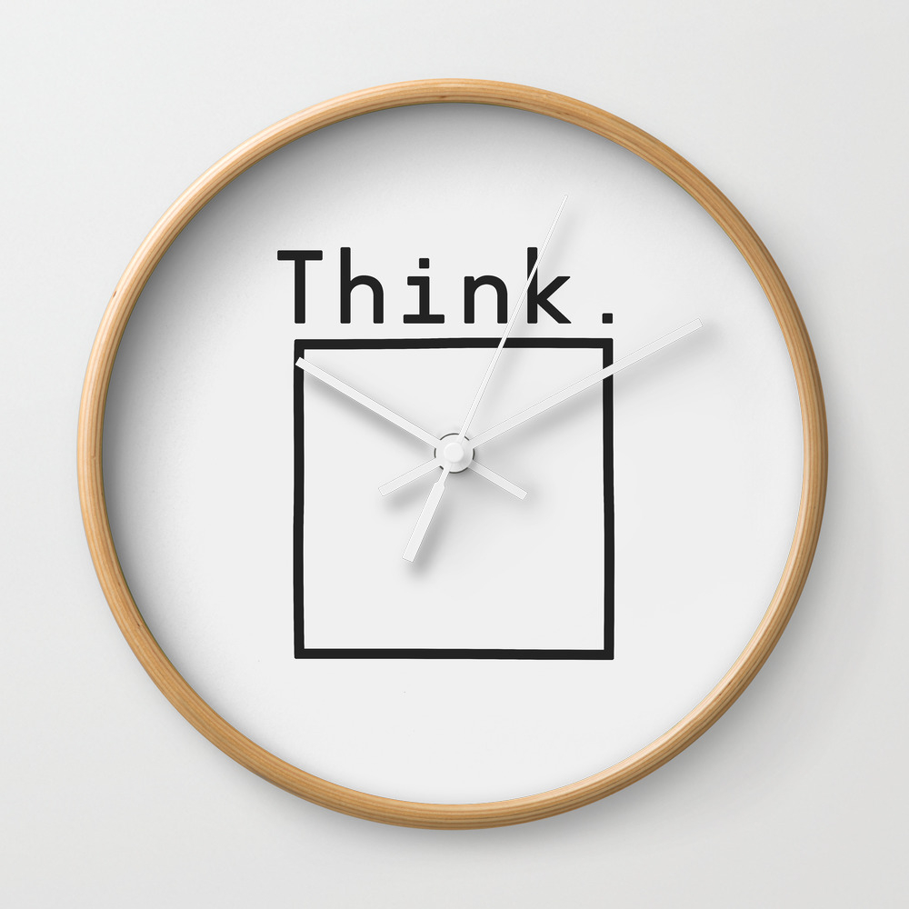 Outside The Box Wall Clock by Speakerine