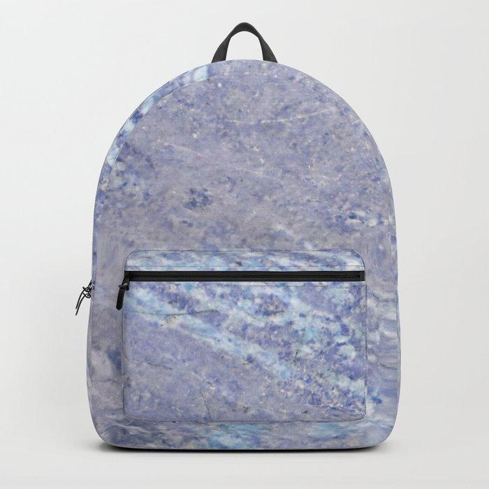 Ocean Blue Marble Backpack