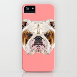 English Bulldog // Pink iPhone Case