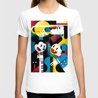 band T-shirts featuring Mickey's Band by Szoki