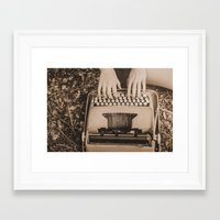 write Framed Art Prints featuring Write. by Wendy Waldrop