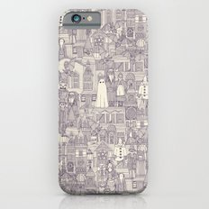 vintage halloween purple ivory iPhone 6s Slim Case
