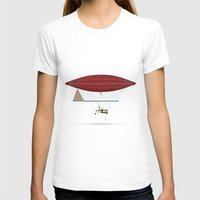 hot air balloon T-shirts featuring vintage hot air balloon by the lazy pigeon