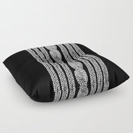 Cable Stripe Black Floor Pillow