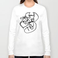 faces Long Sleeve T-shirts featuring Faces by kgkramer